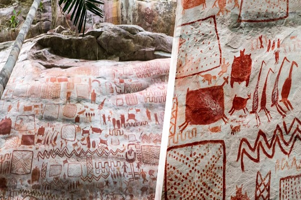 Hallan pictografías rupestres que se encontraban ocultas hace miles de años
